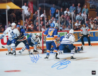 Curtis Joseph & Doug Gilmour Signed 11x14 Maple Leafs Photo (COJO COA) at PristineAuction.com