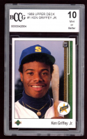 Ken Griffey Jr. 1989 Upper Deck #1 RC (BCCG 10) at PristineAuction.com