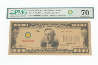 """1934 $100,000 One Hundred Thousand Dollars """"Smithsonian Edition"""" Gold Certificate (PMG Gem Uncirculated) at PristineAuction.com"""