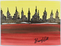 "Henry Hill Signed ""NY City Skyline"" 9x12 Painting Inscribed ""2009"" (Beckett Hologram) at PristineAuction.com"