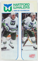 1988-89 Whalers Yearbook Signed by (39) With Larry Pleau, Mike Luit, Jay Leach, Paul MacDermid, Ron Francis, Brent Peterson & John Anderson (YSMS COA) at PristineAuction.com