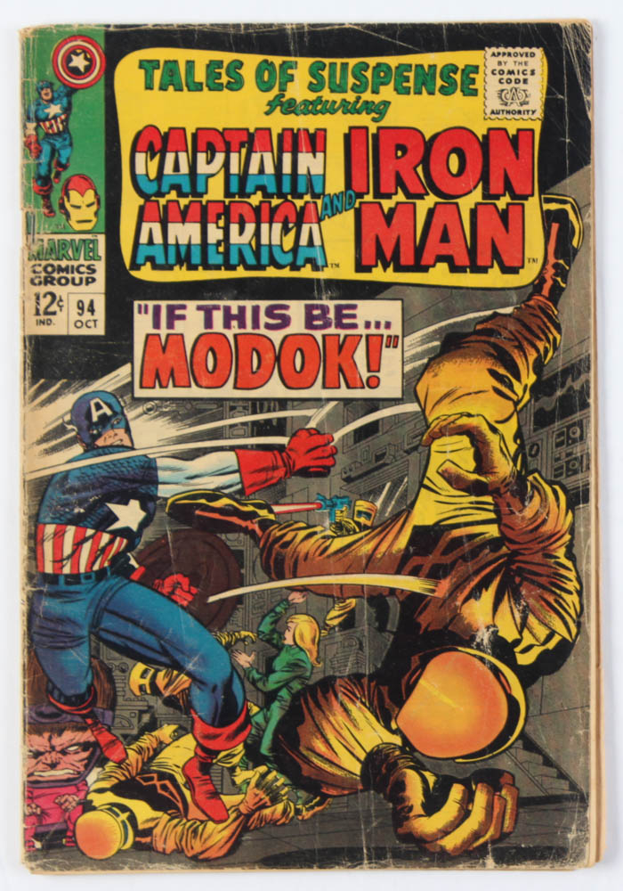"""Vintage 1967 """"Tales of Suspense Featuring Iron Man & Captain America"""" Issue #94 Marvel Comic Book at PristineAuction.com"""