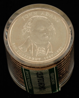 Ballistic Roll of (12) 2007-D Uncirculated John Adams Presidential Dollars at PristineAuction.com