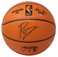 Kristaps Porzingis Signed NBA Game Ball Series Basketball (Fanatics Hologram) at PristineAuction.com