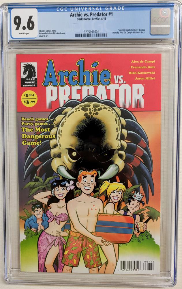 "2015 ""Archie vs. Predator"" Issue #1 Dark Horse Comic Book (CGC 9.6) at PristineAuction.com"