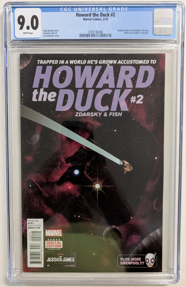"""2016 """"Howard the Duck"""" Issue #2 Marvel Comic Book (CGC 9.0) at PristineAuction.com"""