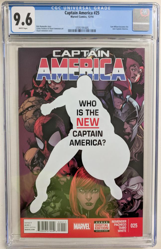 "2014 ""Captain America"" Issue #25 Marvel Comic Book (CGC 9.6) at PristineAuction.com"