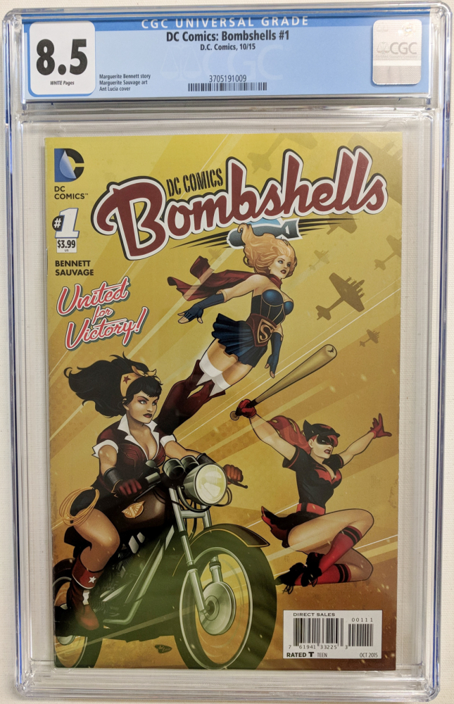 """2015 """"Bombshells"""" Issue #1 DC Comic Book (CGC 8.5) at PristineAuction.com"""