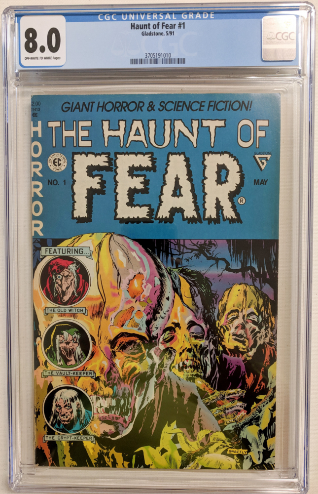 """1991 """"The Haunt of Fear"""" Issue #1 Gladstone Comic Book (CGC 8.0) at PristineAuction.com"""