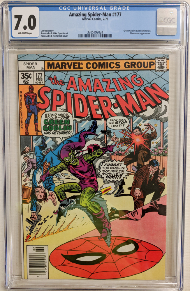 """1978 """"The Amazing Spider-Man"""" Issue #177 Marvel Comic Book (CGC 7.0) at PristineAuction.com"""