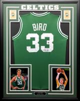 Larry Bird Signed Celtics 34.5 x 42.5 Custom Framed Jersey (JSA COA & Bird Hologram) at PristineAuction.com