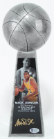 "Magic Johnson Signed 14"" Championship Basketball Trophy (Beckett COA) (See Description) at PristineAuction.com"