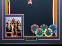 Larry Bird Signed Team USA 34.5 x 42.5 Custom Framed Jersey (JSA COA & Bird Hologram) at PristineAuction.com