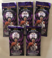 Lot of (5) 2019/20 Panini Illusions Basketball Jumbo Fat 12 Card Pack's at PristineAuction.com