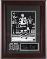 David Pastrnak Signed Bruins 15x19 Custom Framed Photo Display (YSMS COA) at PristineAuction.com