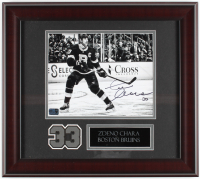 Zdeno Chara Signed Bruins 16x18 Custom Framed Photo Display (YSMS COA) at PristineAuction.com