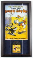Walt Disney's Donald Duck 15x27 Custom Framed Print Display with Vintage 7mm Film Reel at PristineAuction.com