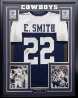 Emmitt Smith Signed 34.5x42.5 Custom Framed Jersey (Beckett COA) at PristineAuction.com