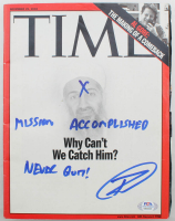 "Robert O'Neill Signed 2002 ""Time"" Magazine Inscribed ""Never Quit!"" & ""Mission Accomplished"" (PSA COA) at PristineAuction.com"