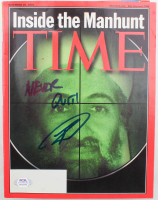 "Robert O'Neill Signed 2002 ""Time"" Magazine Inscribed ""Never Quit!"" (PSA COA) at PristineAuction.com"