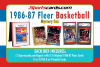 1986-87 Fleer Basketball Card Mystery Pack and PSA GRADED Box! PSA 8s & 9s! at PristineAuction.com