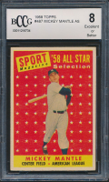 Mickey Mantle 1958 Topps #487 All Star (BCCG 8) at PristineAuction.com