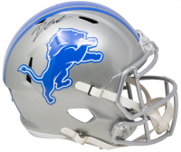 D'Andre Swift Signed Lions Full-Size Speed Helmet (Fanatics Hologram) at PristineAuction.com