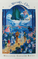 "Mickey Carroll, Jerry Maren & Karl Slover Signed ""The Wizard Of Oz"" 24x36 Movie Poster with Multiple Inscriptions (JSA COA) at PristineAuction.com"
