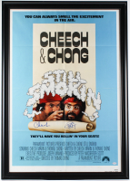 "Cheech Marin & Tommy Chong Signed ""Still Smokin"" 30x43 Custom Framed Movie Poster (PSA Hologram) at PristineAuction.com"