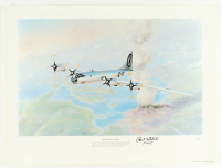 "Paul Tibbets Signed 18x24 ""Automic Warfare"" Print Inscribed ""Pilot"" (JSA COA) at PristineAuction.com"