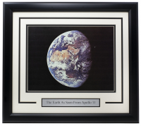 """The Earth As Seen From Apollo 11"" 11x14 Custom Framed Photo at PristineAuction.com"
