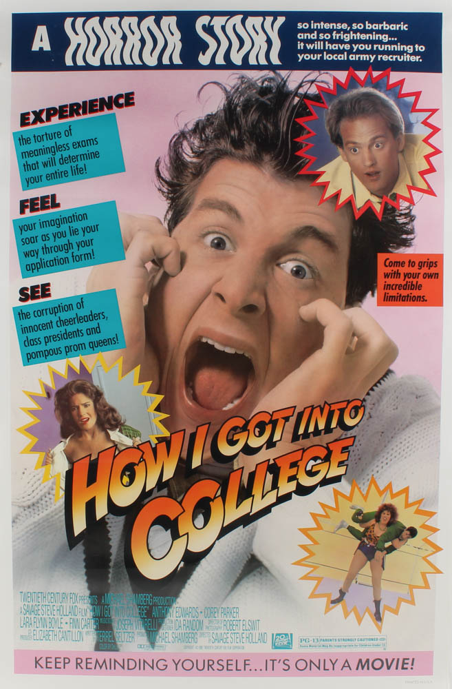 """""""How I Got into College"""" 27x40 Movie Poster at PristineAuction.com"""