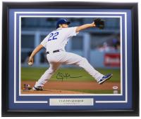 Clayton Kershaw Signed Dodgers 16x20 Custom Framed Photo (PSA Hologram) at PristineAuction.com