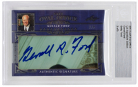 Gerald Ford & Betty Ford 2012 Leaf Oval Office Cut Signature Edition (BGS Encapsulated) at PristineAuction.com