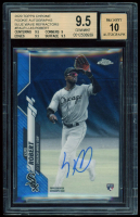 Luis Robert 2020 Topps Chrome Rookie Autographs Blue Wave Refractors #RALR (BGS 9.5) at PristineAuction.com