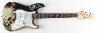 Korn Signed Full-Size Electric Guitar Band-Signed by (4) with Jonathan Davis, James Shaffer, Reginald Arvizu & Brian Welch (JSA Hologram) at PristineAuction.com