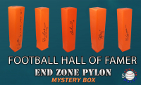 Schwartz Sports Football Hall of Famer Signed Endzone Pylon Mystery Box - Series 1 (Limited to 100) at PristineAuction.com