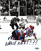 "Darren McCarty Signed Red Wings 8x10 Photo Inscribed ""Whose Next???"" (Playball Ink Hologram) at PristineAuction.com"