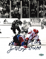 """Darren McCarty Signed Red Wings 8x10 Photo Inscribed """"Sweet Revenge"""" & """"3 - 26 - 97"""" (PSA COA) at PristineAuction.com"""
