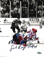 "Darren McCarty Signed Red Wings 8x10 Photo Inscribed ""Sweet Revenge"" & ""3 - 26 - 97"" (PSA COA) at PristineAuction.com"