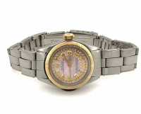 Rolex Diamond Oyster Perpetual 18kt Yellow Gold Women's Wristwatch with Box & Papers at PristineAuction.com