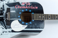 """Wilt Chamberlain Signed 40"""" Acoustic Guitar (PSA LOA) at PristineAuction.com"""