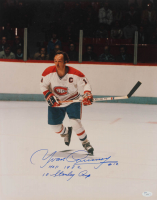 "Yvan Cournoyer Signed Canadiens 16x20 Photo Inscribed ""HOF 1982"" & ""10 Stanley Cup"" (JSA COA) at PristineAuction.com"