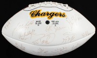 1994 Chargers Logo Official NFL Game Ball Team-Signed by (45) with Stan Humphries, Junior Seau, Natrone Means, Eric Bieniemy, Trent Green (Beckett LOA) at PristineAuction.com