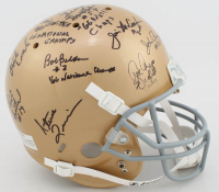 1966 Notre Dame Fighting Irish Full-Size Helmet Team-Signed by (18) with Terry Hanratty, Nick Eddy, Mike McGill, John Pergine, Joe Azzaro with Inscriptions (Beckett LOA) at PristineAuction.com