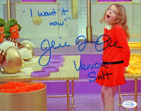 """Julie Dawn Cole Signed """"Willy Wonka & the Chocolate Factory"""" 8x10 Photo Inscribed """"I Want It Now"""" & """"Veruca Salt"""" (AutographCOA COA) at PristineAuction.com"""
