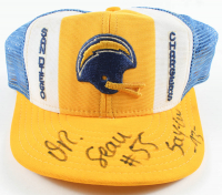 "Junior Seau Signed Vintage Chargers Logo Hat Inscribed ""Say-Ow"" & ""-93-"" (Beckett LOA) at PristineAuction.com"