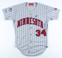 Kirby Puckett Signed Twins 1987 World Series Jersey (Beckett LOA) at PristineAuction.com