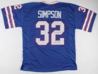 "O. J. Simpson Signed Jersey Inscribed ""H.O.F. 85'"" (JSA COA) at PristineAuction.com"