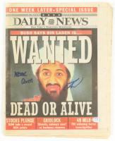 "U.S. Navy Seal Robert J. O'Neill Signed Osama Bin Laden 11x14 Newspaper Inscribed ""Never Quit!"" (PSA COA) at PristineAuction.com"